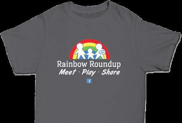 rainbow roundup tshirt