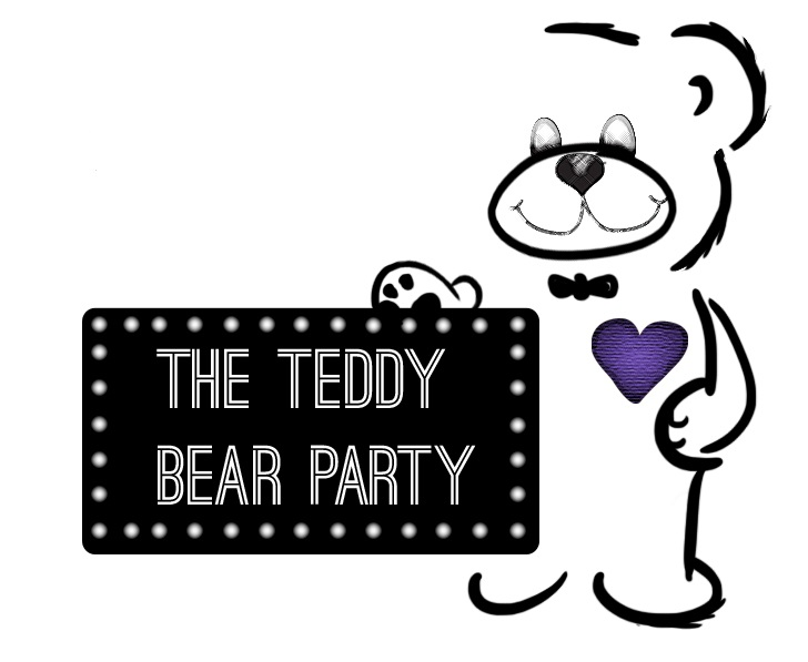 teddy bear party logo